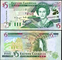 ND 2003 P-42v East Caribbean 5 Dollars UNC