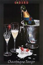 "Michael Godard ""CHAMPAGNE TANGO"" Cristal-Strawberry-Las Vegas-Party-Poster"
