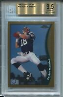 1998 Topps Chrome Football #165 Peyton Manning Rookie Card RC Graded BGS 9.5 '98