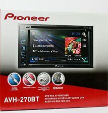 "PIONEER AVH-270BT CD/DVD Receiver 6.2"" Car Audio Stereo Touchscreen w/ Bluetooth"