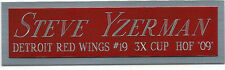 STEVE YZERMAN DETROIT RED WINGS NAMEPLATE FOR AUTOGRAPHED Signed HOCKEY JERSEY