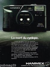 Publicité advertising 1988 Appareil photo Hanimex 35 DL