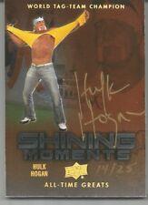 HULK HOGAN 2012 UPPER DECK ALL TIME GREATS SPORTS AUTO SIGNATURE 14/25 ~ WWE WWF