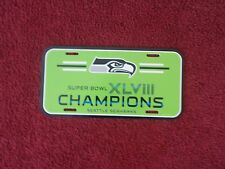 SEATTLE SEAHAWKS 2014 SUPER BOWL XLVIII CHAMPIONS  LICENSE PLATE
