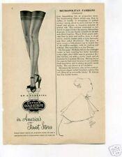 Gotham Gold Stripe Stockings Ad 1950's Original Ad