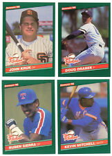 1986 1988 1989 1990 1991 Donruss Rookies & Traded Cards With Stars Pick 20 NM/MT