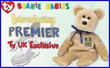 TY Beanie Baby 2002 PREMIER UK Exclusive TEDDY BEAR New MWMT Retired PLUSH Bean