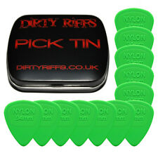 12 x Dunlop Nylon Midi Guitar Picks / Plectrums - 0.94mm Green In A Pick Tin