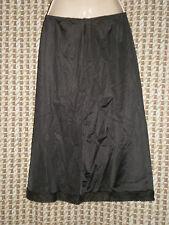 Vintage Sliperfection Black Half Slip USA Made Size Medium W:21-32 H:32 L:25
