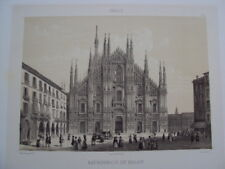 GRAVURE SUR ACIER 19éme ITALIE CATHEDRALE DE MILAN