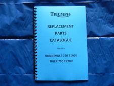 TRIUMPH T140V/TR7RV PARTS BOOK FOR 1973  MODELS
