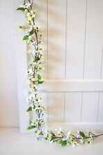 Blumengirlande Blumen Girlande creme weiß künstlich Dekogirlande  Deko 180cm