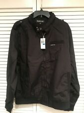 Members Only Men's Original Black Iconic Racer Jacket Size Extra Large XL