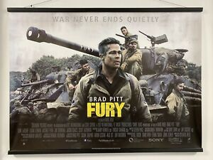 Fury, Double Sided Original UK Quad Sheet Movie Poster