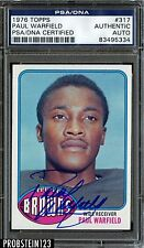 1976 Topps Football #317 Paul Warfield Signed AUTO PSA/DNA AUTHENTIC STOCK PHOTO