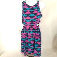 One love women's Dress Size Small ~  Boho geometric cut out midriff summer dress