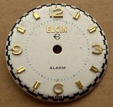 De Colección Reloj Alarma Elgin Dial, buen estado, 28.6 mm, 2 Puntas. número de lote 2.