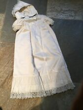 Beautiful New silk babies christening gown with matching bonnett ,lined