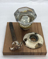 Reclaimed Architectural Antique Door Knob Metal 12 Points Glass, Turn Knob,