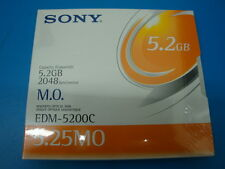 SONY EDM-5200C NEW SEALED  MO Media 5.2GB RW Optical Disk EDM-5200B
