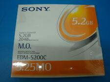 SONY EDM-5200C NEW SEALED  MO Media 5.2GB RW Optical Disk EDM-5200B
