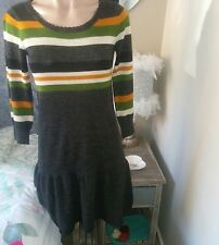 friends of couture wool dress size 10 pinup retro designer