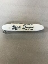 Rare Welcome To Disneyland July 17, 1955 Vintage Mickey Mouse Pocket Knife