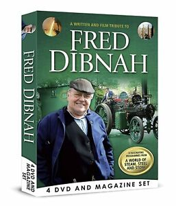 FRED DIBNAH WRITTEN FILM & TRIBUTE 4 DVD BOX SET & BOOK STEAM STONE & STEEL