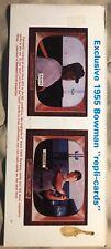 1985 Baseball Cards Magazine Ernie Banks Mickey Mantle 1955 Bowman *read* Uncut