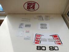 Yamaha YZ 80 J 1982 decal set, motocross mini bike stickers