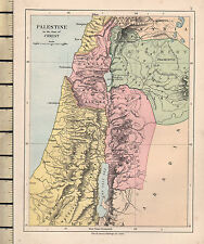 c1890 VICTORIAN MAP ~ PALESTINE IN THE TIME OF CHRIST ~ JUDAEA GALILEE DECAPOLIS