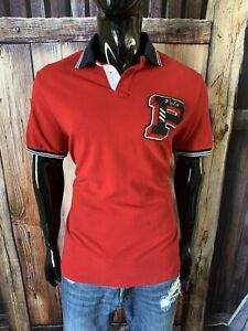 """Polo Ralph Lauren SS Red & Navy Polo Shirt Size Large College """"P"""" Logo"""