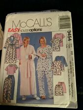 McCALL'S SEWING PATT.  3454 MISSES SZ 18W - 24W ROBES & PJs  House Clothes Short