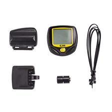 LCD sans fil numérique vélo Compteur de vitesse Odomètre Compteur Vélo Ordinateur Manuel Ver