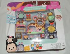 New Disney Tsum Tsum City Mickey's Donut Shop Gus Judy Hopps 16 Pce Set Mouse