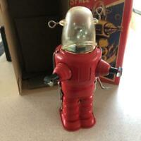 Retro tin robot space Trooper Vintage antique Tinplate Toy Rare Limited Showa