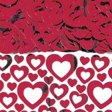 Red Metallic Cutout Heart Wedding Table Confetti - 14g