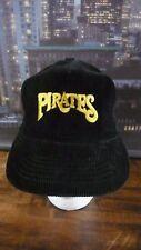 PITTSBURGH PIRATES CORDUROY SNAPBACK BLACK HAT