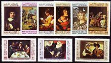 Aden Mahra 1967 ** Mi.48/56 A Gemälde Paintings Gauguin Fragonard van Dyck
