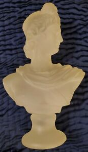 Vintage Lucite Apollo Greek Roman Goddess Bust Statue