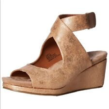 Coconuts Matisse Size 8 Coryn Wraparound Ankle Wedge Gold Shimmer Tan Shoe