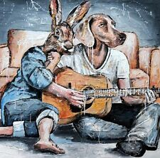 GILLIE AND MARC-direct from the artists- authentic artistic print guitar love