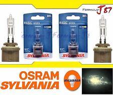Sylvania Basic 885 H27 50W Two Bulbs Fog Light Replacement Lamp Legal DOT Stock