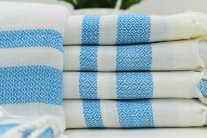 "BAMBOO TOWEL 40""x67"" Blue Towel, White Towel, High Quality Turkish Towel Tkr-Dn"