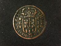 1 maravedí Barcelona B 1718 Felipe V España