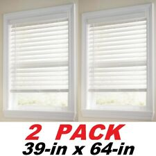 Home Decorators Collection White Cordless 2-1/2 in. Premium Faux Wood Blind 2-Pk