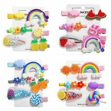 6Pcs/Set Girls Hair Clips Baby Kids Cute Hair Accessories Hairpin Slide Grips
