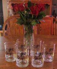 6 Barware Bar Glass Tumbler High Ball Glasses Arabian Horses Springfest 1994