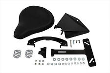 Black Leather Solo Seat Kit For Harley-Davidson