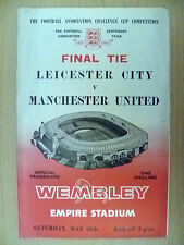 1963 FA CUP FINAL- LEICESTER CITY v MANCHESTER UNITED, 25 May (Org*)